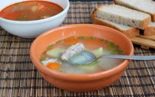 Суп из скумбрии с рисом