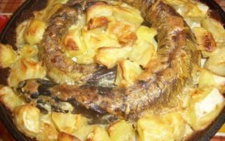 Щука с картошкой