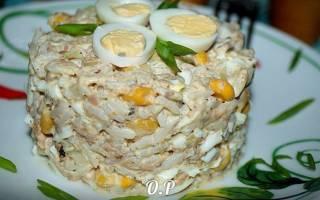 Салат с кукурузой и рыбой