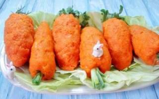 Салат с красной рыбой и морковью