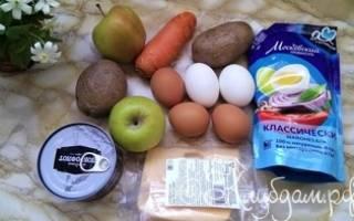 Салат с горбушей и яблоком