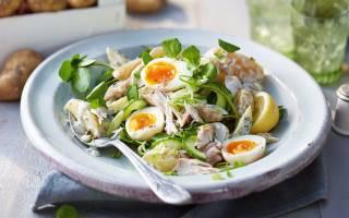 Салат из отварной скумбрии