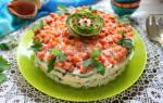 Рыбный салат слоями