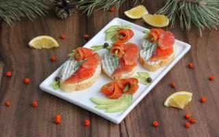 Бутерброды с авокадо и рыбой