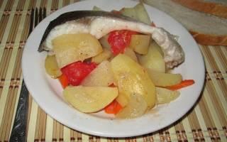 Толстолобик в духовке с овощами