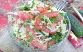 Салат из рыбы икры и овощей