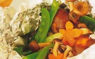 Горбуша запеченная с грибами