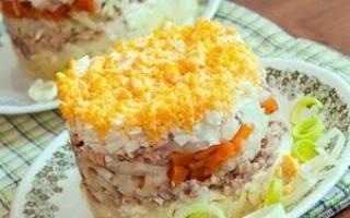 Салат рыбный с картошкой классический
