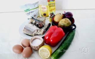 Салат из минтая с яйцом
