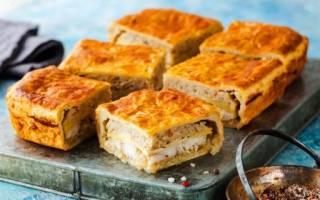 Пирог с рыбой простой и быстрый