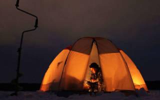Обогрев зимней палатки на рыбалке