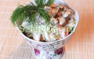 Салат из копченой скумбрии слоями