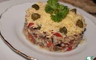 Салат с каперсами и тунцом