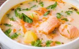 Суп рыбный из лосося