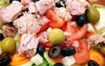 Салат из печени трески постный