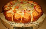 Пирог с семгой и сыром