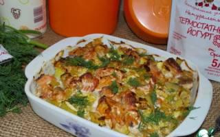 Горбуша в духовке с кабачками