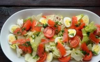 Салат с семгой слоеный