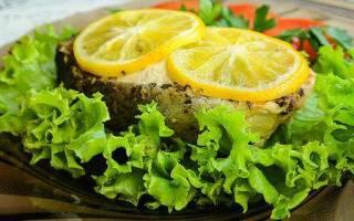 Семга в духовке с лимоном