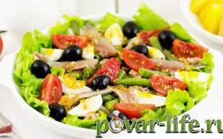Салат ницца с тунцом